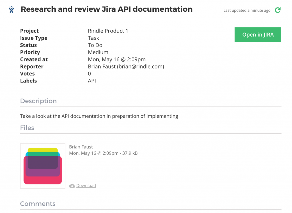 Jira Rindle Drop