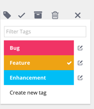 Rindle Tags - Create a Tag